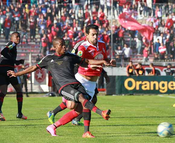 Thabo Matlaba of Orlando during the CAF Confederations Cup Final 2nd Leg match between Etoile Du Sahel and Orlando Pirates on 29 November 2015 at Olympic Stadium in Sousse/ BackpagePix