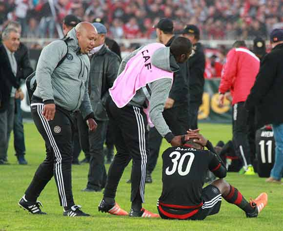 Dejected Orlando Pirates palyers and staff during the CAF Confederations Cup Final 2nd Leg match between Etoile Du Sahel and Orlando Pirates on 29 November 2015 at Olympic Stadium in Sousse/ BackpagePix