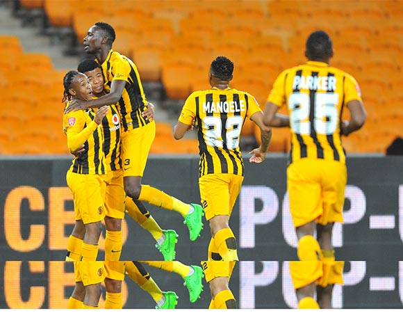 George Lebese of Kaizer Chiefs celebrates his goal with his teammates during the 2015/16 Absa Premiership football match between Kaizer Chiefs and Golden Arrows at the FNB Stadium in Johannesburg, South Africa on November 03, 2015 ©Samuel Shivambu/BackpagePix
