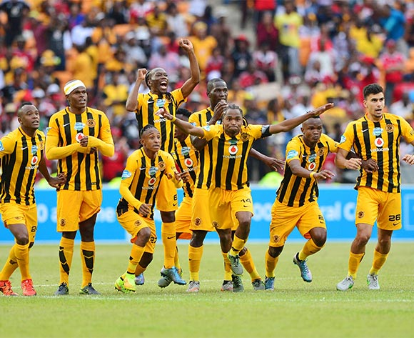 Siphiwe Tshabalala of Kaizer Chiefs (c) leads celebration as Chiefs win penalty shootout during the 2015 Telkom Knockout football match between Kaizer Chiefs and Orlando Pirates at Soccer City in Johannesburg, South Africa on 07 November 2015 ©Gavin Barker/BackpagePix