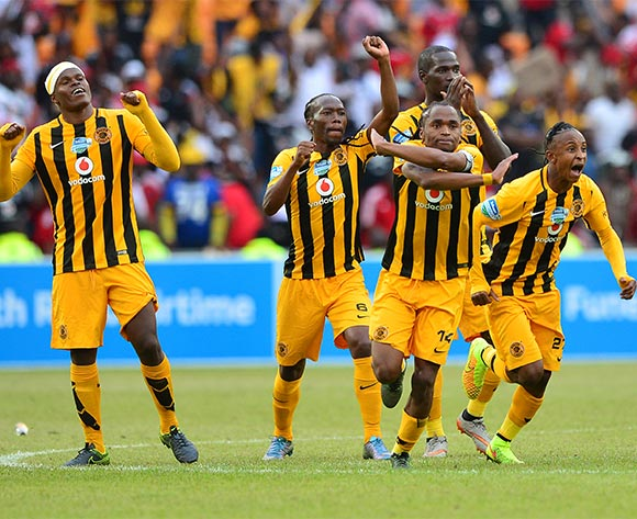 Siphiwe Tshabalala of Kaizer Chiefs (c) celebrates as Chiefs win in the penalty shootout during the 2015 Telkom Knockout football match between Kaizer Chiefs and Orlando Pirates at Soccer City in Johannesburg, South Africa on 07 November 2015 ©Gavin Barker/BackpagePix