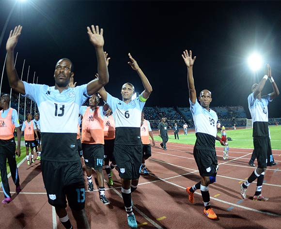 Botswana players celebrating after the FIFA World cup 2018 qualifying match between Botswana and Mali at the Francistown Stadium in Francistown in Botswana on 14 November 2015. Monirul Bhuiyan/Backpage pix