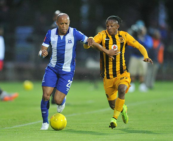Kurt Lentjies of Maritzburg United challenged by Hendrick Ekstein of Kaizer Chiefs during the Absa Premiership 2015/16 match between Maritzburg United and Kaizer Chiefs at Harry Gwala Stadium, Pietermaritzburg on the 21 November 2015 ©Muzi Ntombela/BackpagePix