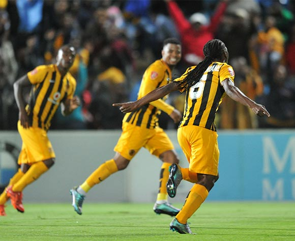 Reneilwe Letsholonyane of Kaizer Chiefs celebrates his goal during the Absa Premiership 2015/16 match between Maritzburg United and Kaizer Chiefs at Harry Gwala Stadium, Pietermaritzburg on the 21 November 2015 ©Muzi Ntombela/BackpagePix
