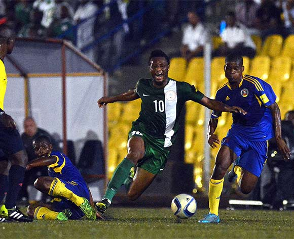 Mikel Obi in the thick of the action against Swaziland last year
