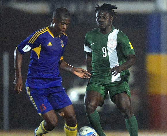 Obafemi Matins of Nigeria (right)against Swaziland recently