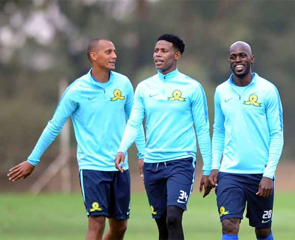 Wayne Arendse, Bongani Zungu, Anthony Lafforand Hlompho Kekana of Mamelodi Sundowns during the Mamelodi Sundowns Media Day on 14 December 2015 at Chloorkop Pic Sydney Mahlangu/ BackpagePix