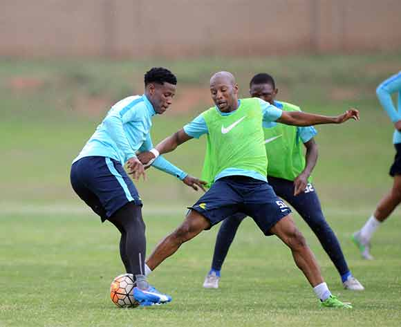 Bongani Zungu of Mamelodi Sundowns and Katlego Mashego of Mamelodi Sundowns during the Mamelodi Sundowns Media Day on 14 December 2015 at Chloorkop Pic Sydney Mahlangu/ BackpagePix
