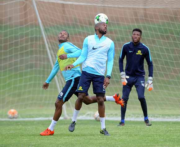 Mzikayise Mashaba of Mamelodi Sundowns and Ramahlwe Mphahlele of Mamelodi Sundowns during the Mamelodi Sundowns Media Day on 14 December 2015 at Chloorkop Pic Sydney Mahlangu/ BackpagePix