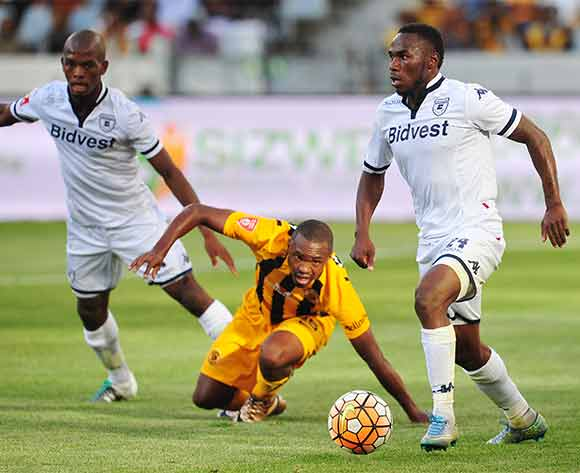 Onismor Bhasera of Bidvest Wits takes the ball off Bernard Parker of Kaizer Chiefs during Absa Premiership 2015/16 game between Kaizer Chiefs and Bidvest Wits at Cape Town Stadium on 19 December 2015 ©Ryan Wilkisky/BackpagePix
