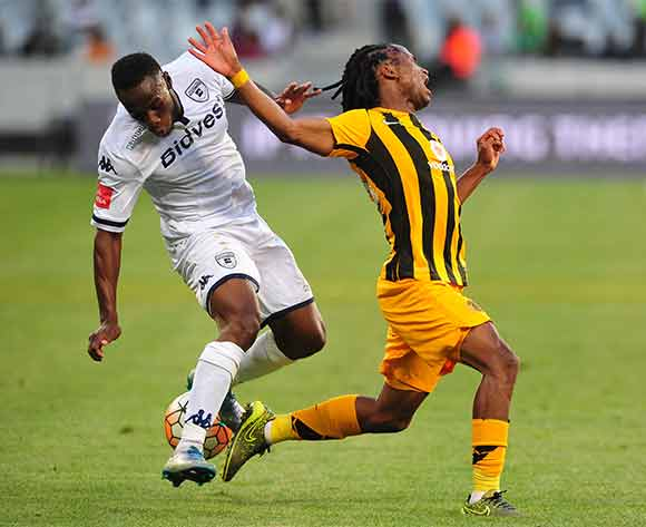 Siphiwe Tshabalala of Kaizer Chiefs is fouled by Onismor Bhasera of Bidvest Wits during Absa Premiership 2015/16 game between Kaizer Chiefs and Bidvest Wits at Cape Town Stadium on 19 December 2015 ©Ryan Wilkisky/BackpagePix