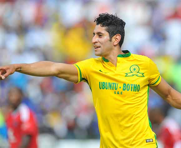 Leonardo Castro of Mamelodi Sundowns celebrates his goal during the Absa Premiership match between Mamelodi Sundowns and Orlando Pirates at the Loftus Stadium in Pretoria, South Africa on December 20, 2015 ©Samuel Shivambu/BackpagePix