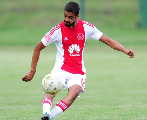 Abbubaker Mobara of Ajax Cape Town during the Absa Premiership match between Lamontville GoldenArrows FC v Ajax Cape Town F.C. at the King Zwelithini Stadium in Umlazi, Durban, South Africa on January 13, 2016 ©Gerhard Duraan/BackpagePix