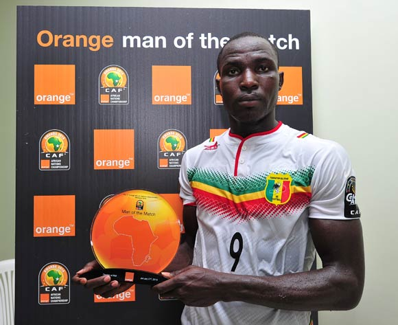 Hamidou Sinayoko of Mali receives the 'Orange Man of the Match' award after the 2016 CHAN Rwanda game between Zambia and Mali at Stade de Kigali, Kigali on 27 January 2016 ©Ryan Wilkisky/BackpagePix