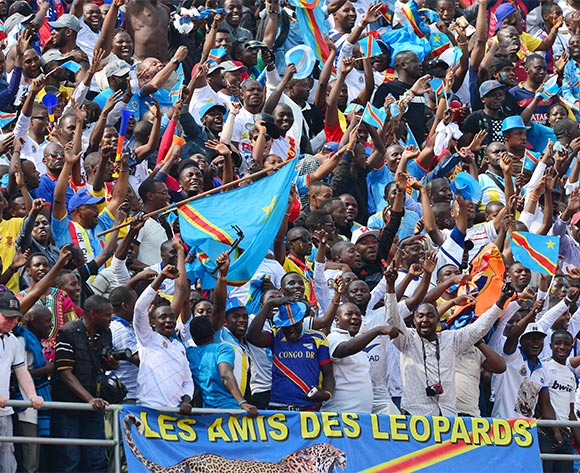 DR Congo Fans celebrate Doxa Gikanji of DR Congo  goal during the 2016 CHAN quarterfinal football match between Rwanda and DR Congo at the Amahoro Stadium in Kigali, Rwanda on 30 January 2016 ©Gavin Barker/BackpagePix