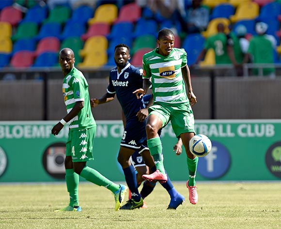 Thapelo Morena from Bloemfontein Celtic FC during the Absa Premiership match between Bloemfontein Celtic FC and Bidvest Wits FC at Dr Molemela Stadium on 31 January 2016.