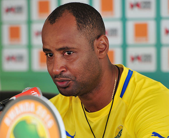 Stéphane Bounguendza, coach of Gabon during the 2016 CHAN Rwanda, Gabon Press Conference at Amahoro Stadium, Kigali on the 15 January 2016