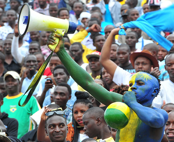 Rwanda fans during the 2016 CHAN football match between Rwanda and Ivory Coast  at the Amahoro Stadium in Kigali, Rwanda on 16 January 2016 ©Muzi Ntombela/BackpagePix
