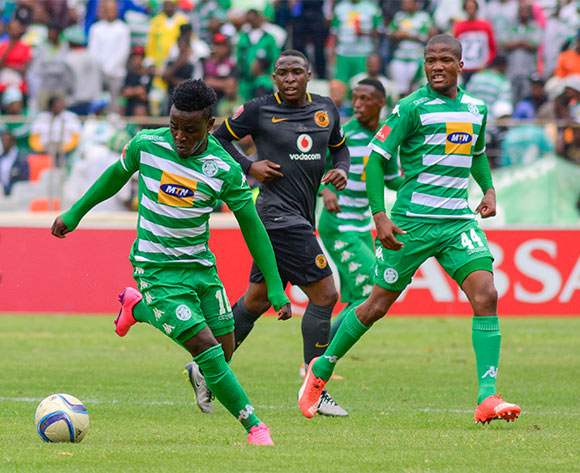 Gabadinho Mhango and Shane April of Bloemfontein Celtic during the Absa Premiership match between Bloemfontein Celtic and Kaizer Chiefs on 17 January 2016 at Free State Stadium, Bloemfontein ©Frikkie Kapp /BackpagePix