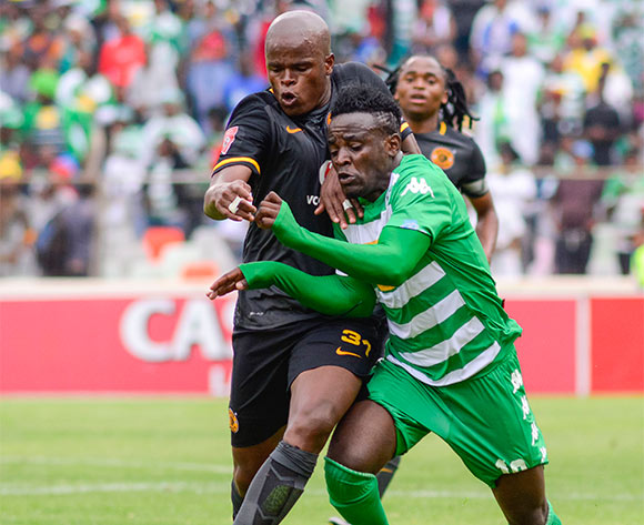 Gabadinho Mhango of Bloemfontein Celtic and Willard Katsande of Kaizer Chiefs during the Absa Premiership match between Bloemfontein Celtic and Kaizer Chiefs on 17 January 2016 at Free State Stadium, Bloemfontein ©Frikkie Kapp /BackpagePix