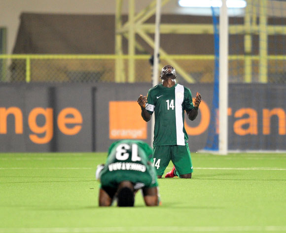 Nigeria players celebrates victory after the game during the 2016 CHAN Rwanda, match between Nigeria and Niger at the Stade de Kigali in Kigali, Rwanda on 18 January 2016 ©Muzi Ntombela/BackpagePix
