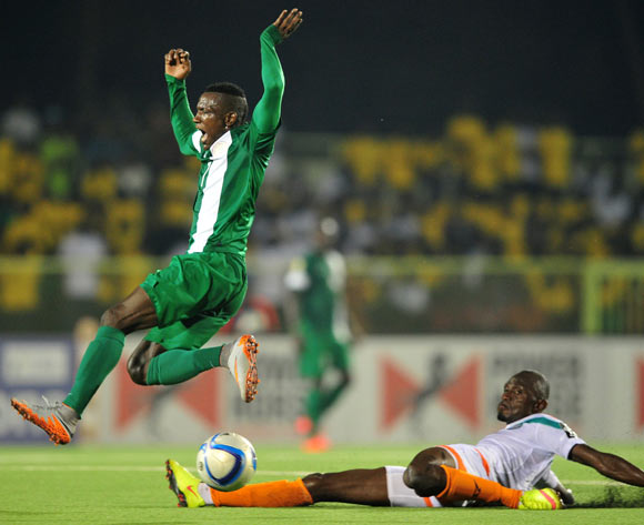 CHAN Eagles forward Prince Aggreh of Nigeria against Niger
