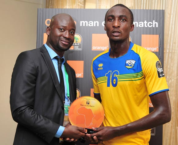Man of the match Ernest Sugira of Rwanda during the 2016 CHAN Rwanda, match between Rwanda and Gabon at the Amahoro Stadium in Kigali, Rwanda on 20 January 2016 ©Muzi Ntombela/BackpagePix