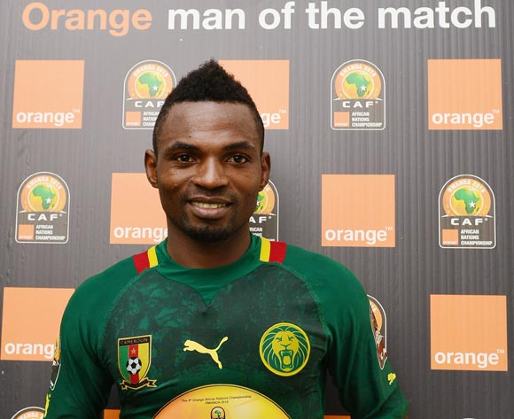 Emane Yazid Atouba of Cameroon wins Orange Man of the Match Award during the 2016 CHAN football match between Cameroon and Ethiopia at the Huye Stadium in Butare, Rwanda on 21 January 2016 ©Gavin Barker/BackpagePix