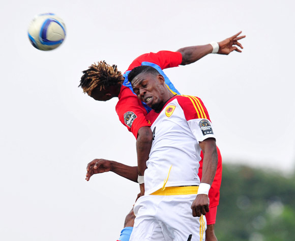 Fabricio of Angola battles with Jonathan Bolingi of DR Congo during the 2016 CHAN Rwanda, match between DR Congo and Angola at the Huye Stadium in Butare, Rwanda on 21 January 2016 ©Muzi Ntombela/BackpagePix