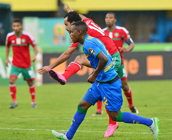 Abdelghani Mouaoui of Morocco  scores during the 2016 CHAN football match between Morocco and Rwanda at the Amahoro Stadium in Kigali, Rwanda on 24 January 2016 ©Gavin Barker/BackpagePix