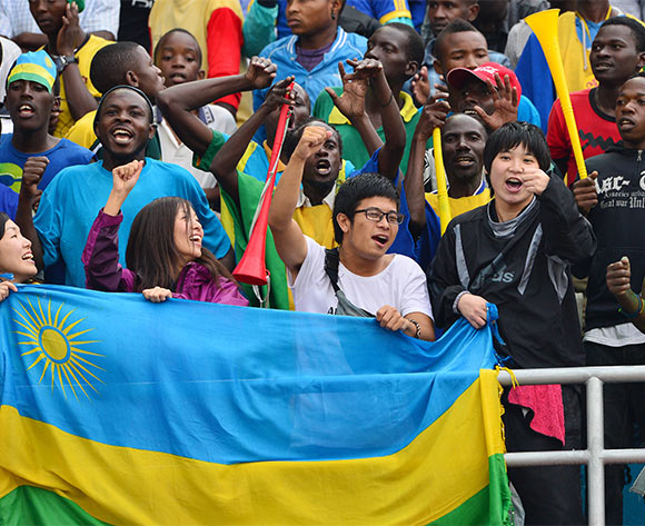 Rwanda Fans during the 2016 CHAN football match between Morocco and Rwanda at the Amahoro Stadium in Kigali, Rwanda on 24 January 2016 ©Gavin Barker/BackpagePix