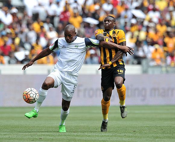 Gift Sithole of Platinum Stars and George Maluleka of Kaizer Chiefs battle for the ball during the 2015 Absa Premiership match    ©Luigi Bennett / BackpagePix