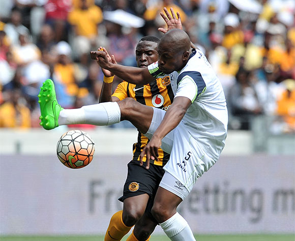 Gift Sithole of Platinum Stars and George Maluleka of Kaizer Chiefs battle for the ball during the 2015 Absa Premiership match 