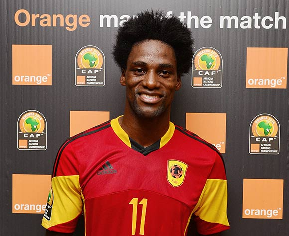 Ary Papel of Angola wins Orange Man of the Match Award during the 2016 CHAN football match between Ethiopia and Angola  at the Amahoro Stadium in Kigali, Rwanda on 25 January 2016 ©Gavin Barker/BackpagePix