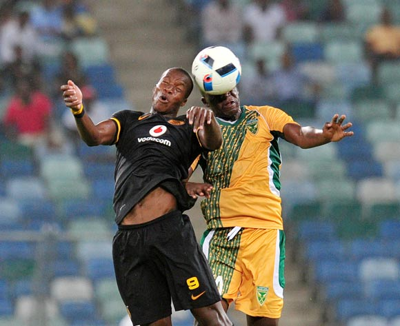 Camaldine Abraw of Kaizer Chiefs battles with Musa Bilankulu of Golden Arrows during the Absa Premiership 2015/16 match between Golden Arrows and Kaizer Chiefs in Moses Mabhida Stadium Durban, Kwa-Zulu Natal on 02 February 2016 ©Muzi Ntombela/BackpagePix