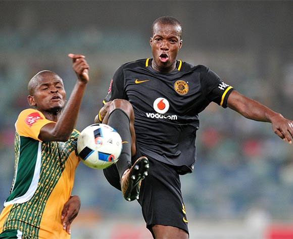 Camaldine Abraw challenged by Nkanyiso Mngwengwe during the Absa Premiership 2015/16 match between Golden Arrows and Kaizer Chiefs in Moses Mabhida Stadium Durban, Kwa-Zulu Natal on 02 February 2016 ©Muzi Ntombela/BackpagePix