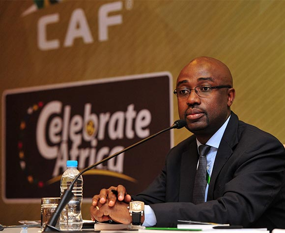 Binyam Salomon Junior, CAF Media Director during the 2016 CHAN Rwanda CAF LOC Press Conference at the Serena Hotel in Kigali, Rwanda on 06 February 2016 ©Ryan Wilkisky/BackpagePix