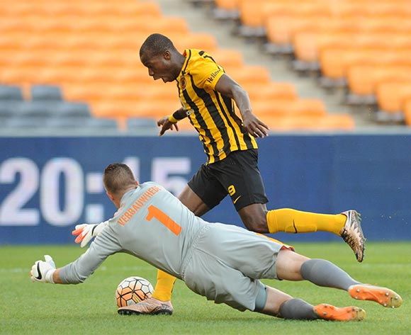 Camaldine Abraw of Kaizer Chiefs is challenged by Glenn Verbauwhede of Maritzburg United during the Absa Premiership match between Kaizer Chiefs and Maritzbueg United  on 06 February 2016 at FNB Stadium Pic Sydney Mahlangu/ BackpagePix