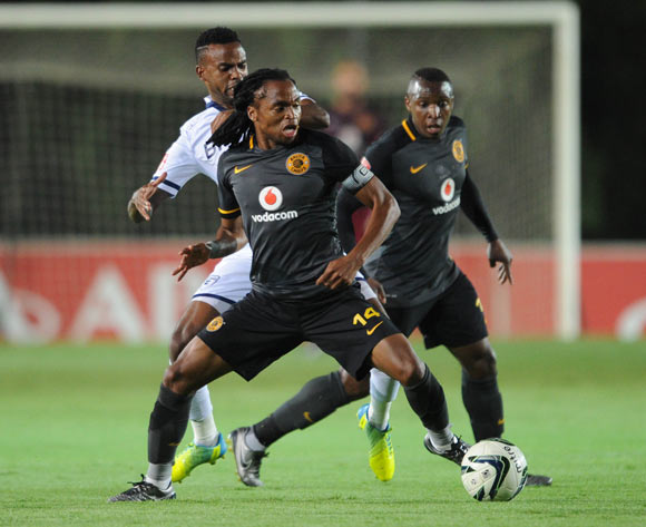Siphiwe Tshabalala  of Kaizer Chiefs is challenged by Jabulani Shongwe of Bidvest Wits during the Absa Premiership match between Bidvest Wits and Kaizer Chiefs on 09 February 2016 at Bidvest Stadium Pic Sydney Mahlangu/ BackpagePix