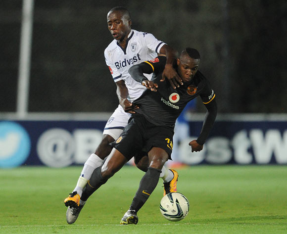 George Maluleka of Kaizer Chiefs is tackled by Ben Motshwari of Bidvest Wits during the Absa Premiership match between Bidvest Wits and Kaizer Chiefs on 09 February 2016 at Bidvest Stadium Pic Sydney Mahlangu/ BackpagePix