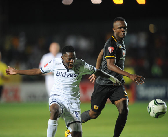 Phakamani Mahlambi of Bidvest Wits is challenged by Siboniso Gaxa of Kaizer Chiefs   during the Absa Premiership match between Bidvest Wits and Kaizer Chiefs on 09 February 2016 at Bidvest Stadium Pic Sydney Mahlangu/ BackpagePix