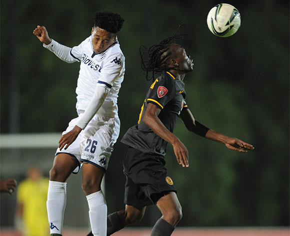 Paseka Sekese of Bidvest Wits challenges Reneilwe Letsholonyane of Kaizer Chiefs   during the Absa Premiership match between Bidvest Wits and Kaizer Chiefs on 09 February 2016 at Bidvest Stadium Pic Sydney Mahlangu/ BackpagePix