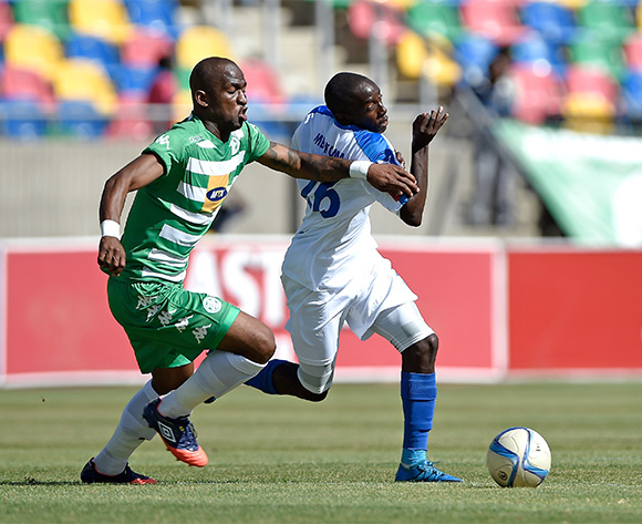 ZapHaniah Mboloma from Chippa United during the Absa Premiership match between Bloemfontein Celtic FC and Chippa United at Dr Molemela Stadium on 14 February 2016.