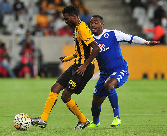 Lucky Baloyi of Kaizer Chiefs evades challenge from Thabo September of Supersport United during the Absa Premiership 2015/16 football match between Kaizer Chiefs and Supersport United at Cape Town Stadium, Cape Town on 20 February 2016 ©Chris Ricco/BackpagePix