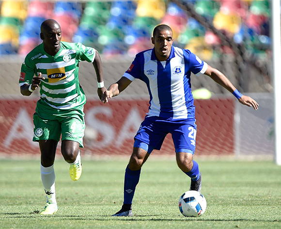 Deolin Mekoa from Maritzburg United during the Absa Premiership match between Bloemfontein Celtic FC and Maritzburg United at Dr Molemela Stadium on 21 February 2016. ©Gerhard Steenkamp/Backpage Media