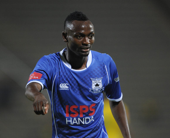 Mukuka Mulenga of Black Aces  during the Absa Premiership match between Mamelodi Sundowns and Black Aces  on 24 February 2016 at Lucas Moripe Stadium Pic Sydney Mahlangu/ BackpagePix