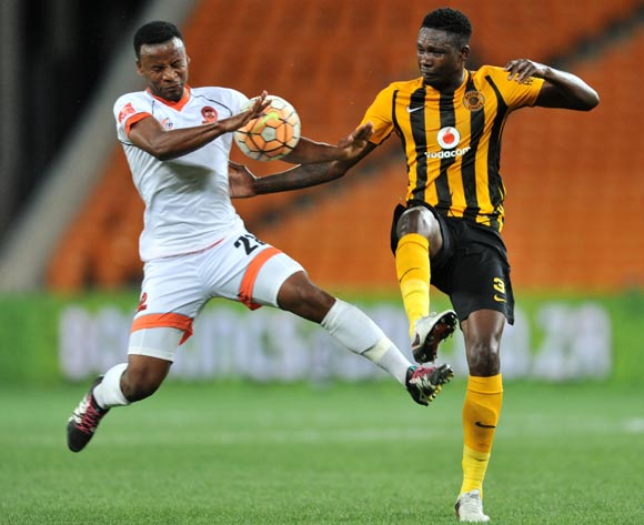 Erick Mathoho (r) of Kaizer Chiefs challenged by Thobani Mncwango (l) during the Absa Premiership match between Kaizer Chiefs and Polokwane City at the FNB Stadium in Johannesburg, South Africa on February 23, 2016 ©Samuel Shivambu/BackpagePix