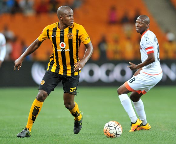 Willard Katsande (l) of Kaizer Chiefs challenged by Jabulani Maluleke (r) of Polokwane City during the Absa Premiership match between Kaizer Chiefs and Polokwane City at the FNB Stadium in Johannesburg, South Africa on February 23, 2016 ©Samuel Shivambu/BackpagePix