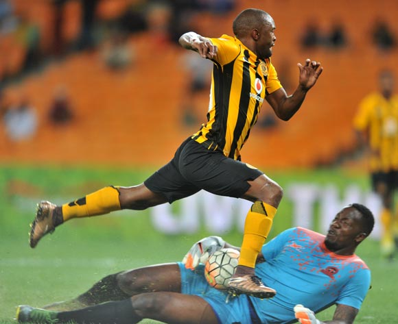 Bernard Parker of Kaizer Chiefs tackled by George Chigova of Polokwane City during the Absa Premiership match between Kaizer Chiefs and Polokwane City at the FNB Stadium in Johannesburg, South Africa on February 23, 2016 ©Samuel Shivambu/BackpagePix