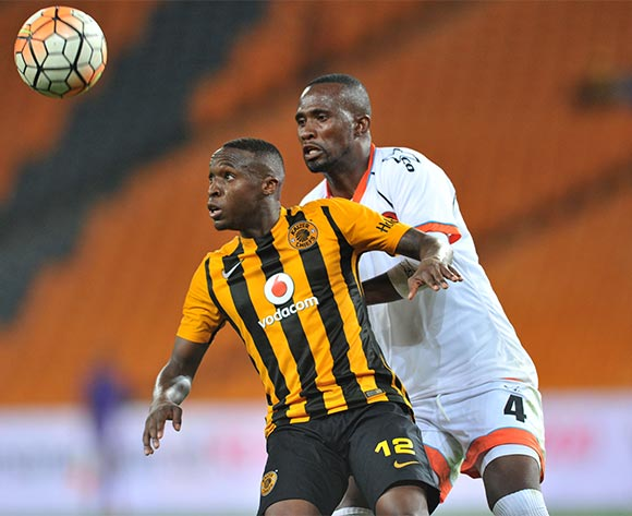 George Maluleka (l) of Kaizer Chiefs challenged by Thapelo Tshilo (r) of Polokwane City during the Absa Premiership match between Kaizer Chiefs and Polokwane City at the FNB Stadium in Johannesburg, South Africa on February 23, 2016 ©Samuel Shivambu/BackpagePix
